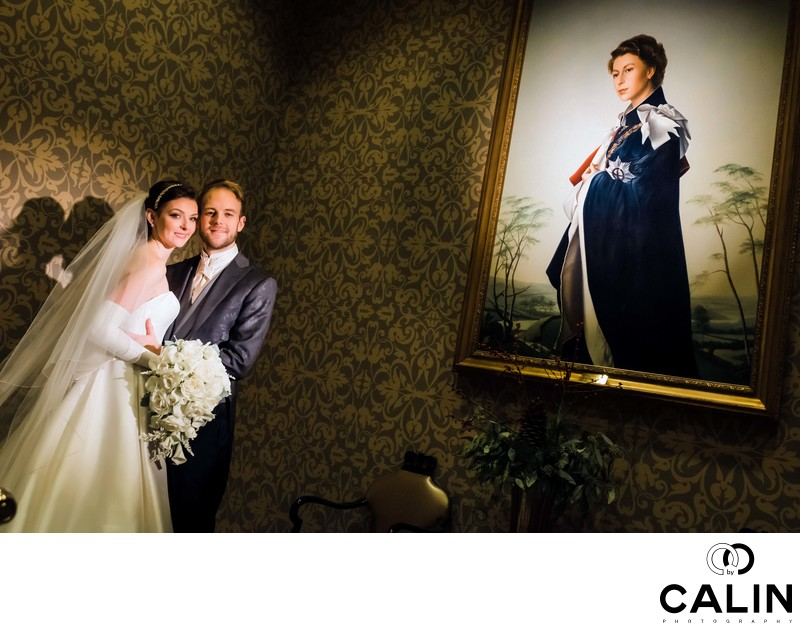 Creative Portrait of Newlyweds