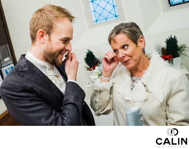 Groom and His Mother Shed a Tear