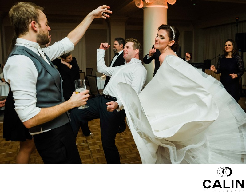 Newlyweds and Guests Dance
