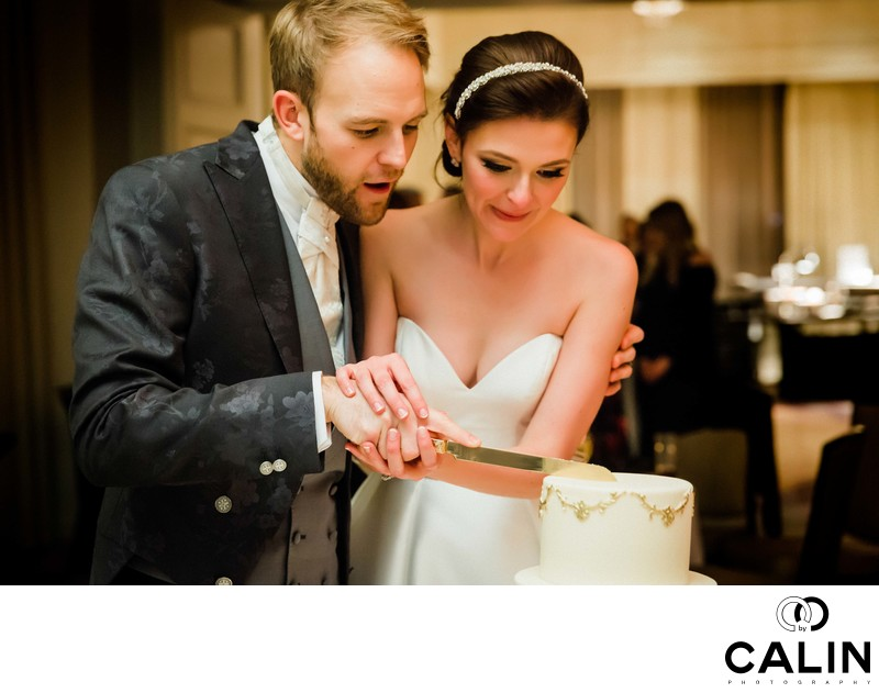 Newlyweds Cut Cake