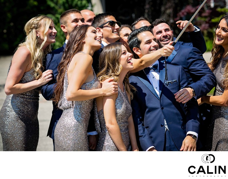 Bridal Party Take Selfies