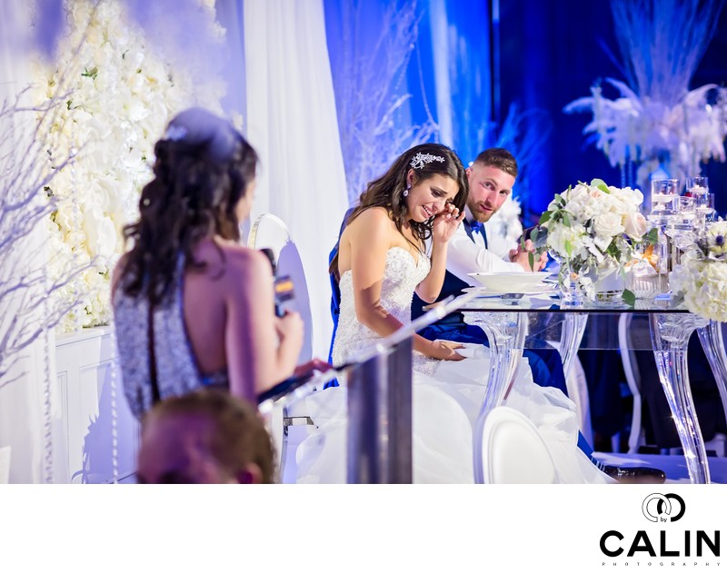 Bride Cries During Sister's Speech