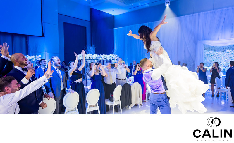 Newlyweds Perform Dirty Dancing Jump