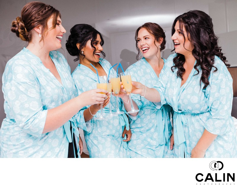 Bridesmaids at a Thompson Hotel Toronto Wedding