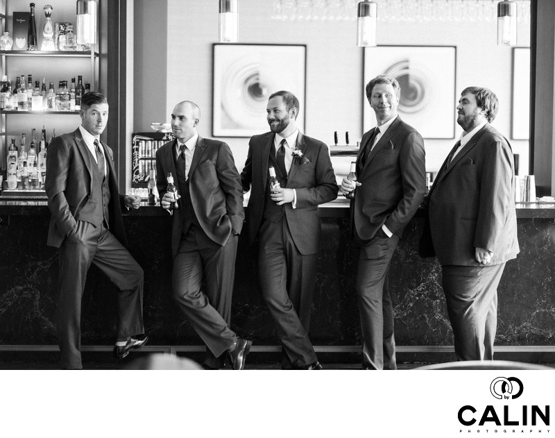 Groomsmen at a Thompson Hotel Toronto Wedding