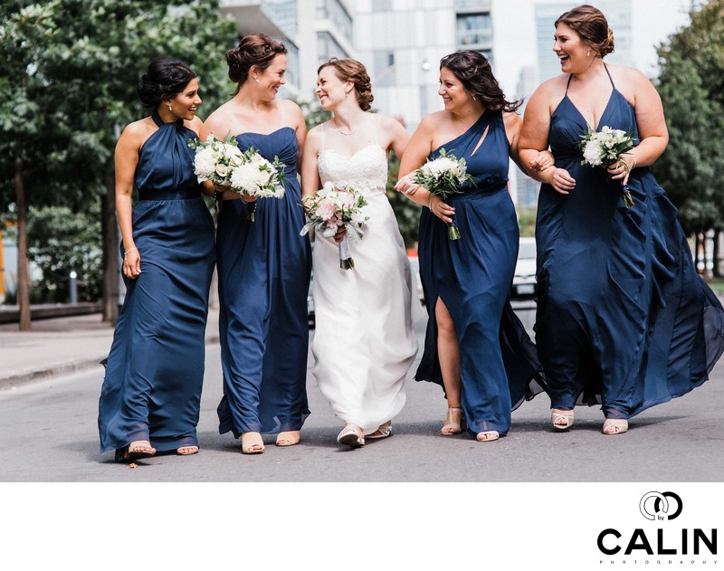 Bride and Bridesmaids at a Thompson Hotel Toronto Wedding