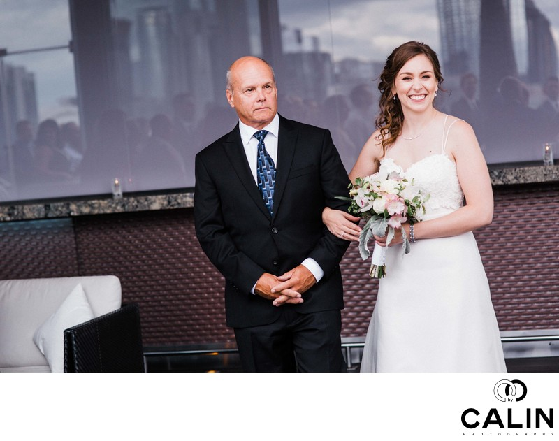 Processional at a Thompson Hotel Toronto Wedding