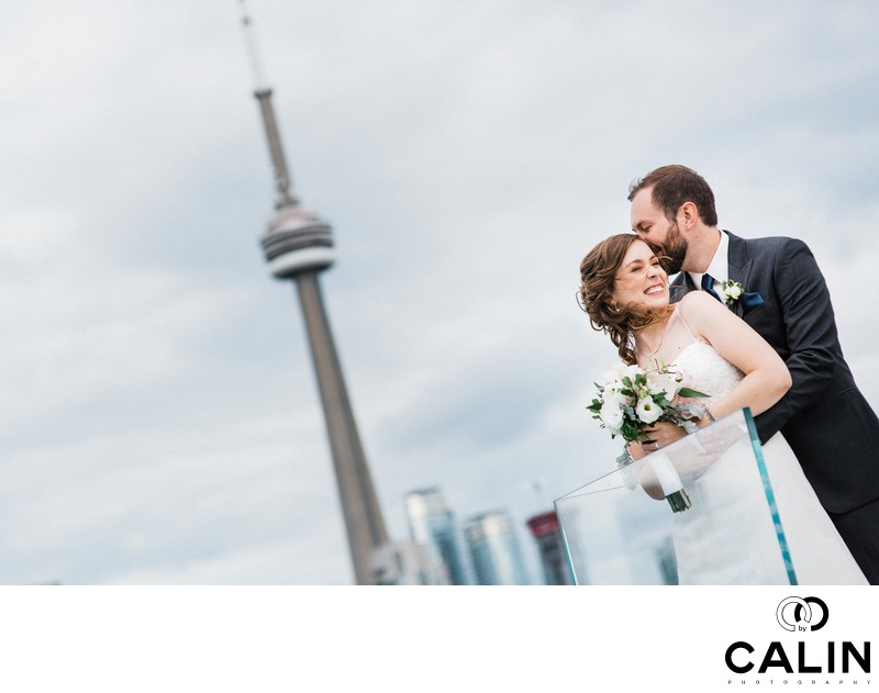 Splendid Bride and Groom Portrait at a Thompson Hotel Toronto Wedding