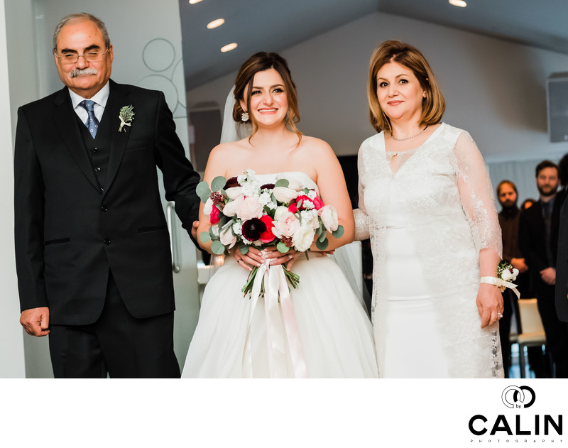 Processional at Sassafraz Restaurant Wedding Toronto
