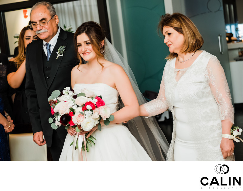 Happy Bride at Sassafraz Restaurant Wedding Toronto