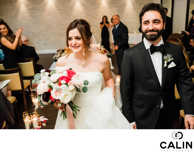Recessional at Sassafraz Restaurant Wedding Toronto