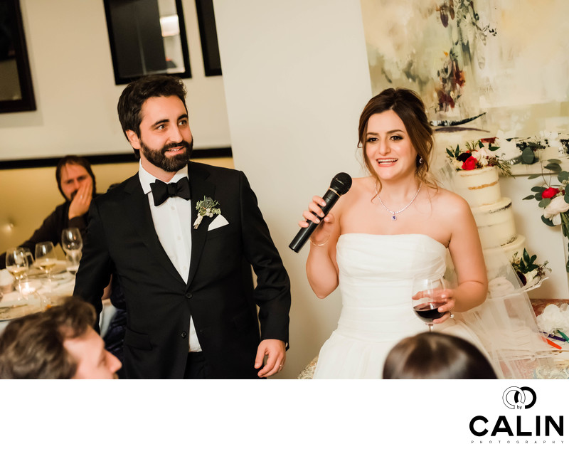 Bride and Groom's Speech at their Sassafraz Wedding