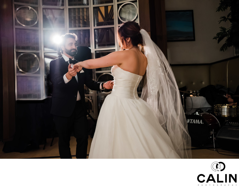 First Dance at Sassafraz Restaurant Wedding Toronto