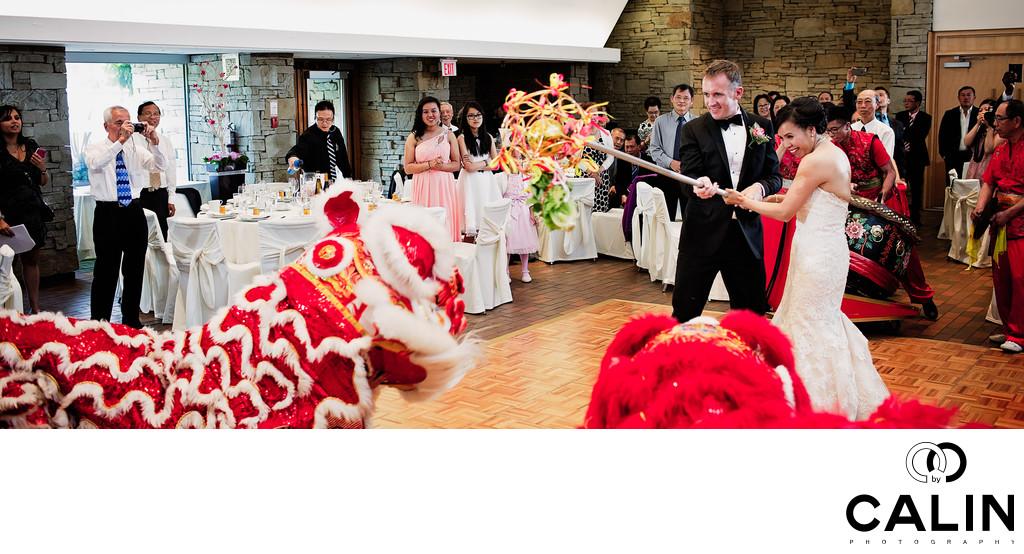 Affordable Wedding Photography London Ontario: Toronto Botanical Garden Wedding Dragon Dancers