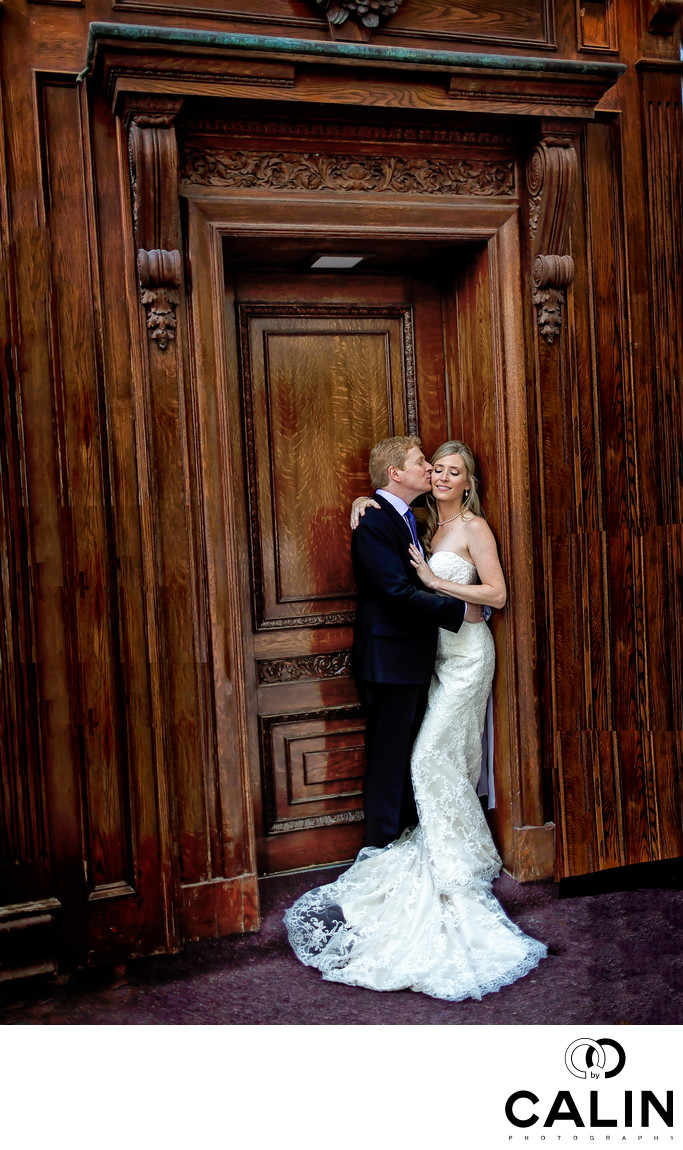 Bride and Groom Portrait at King Edward Hotel Wedding