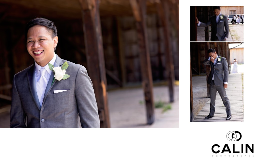 Emotional Groom at Country Heritage Park Wedding
