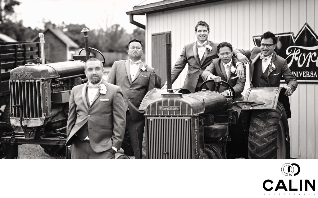 Groomsmen at Country Heritage Park Wedding