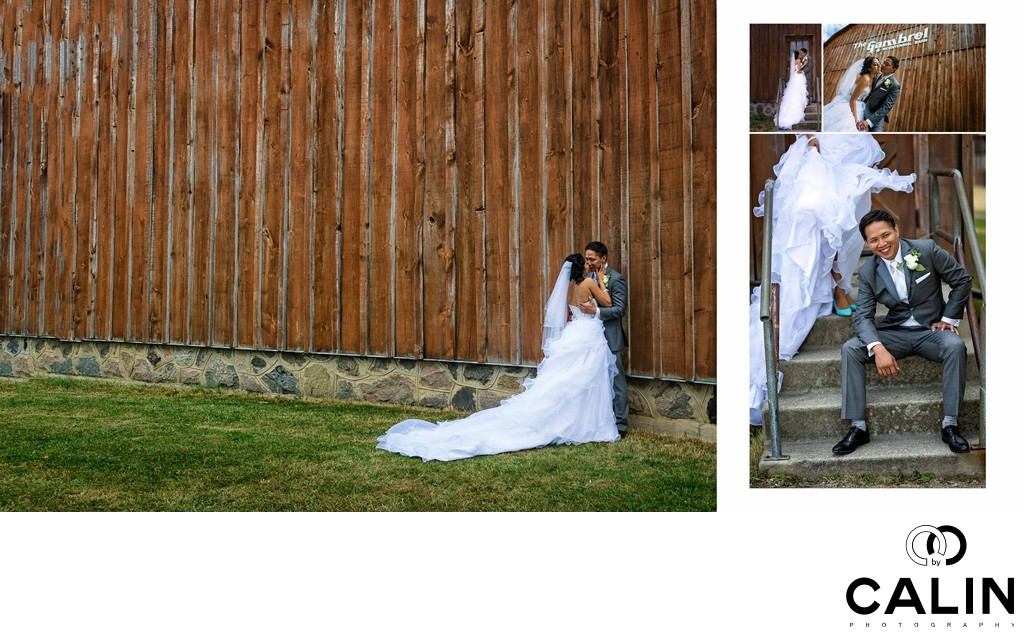 Bride and Groom at Country Heritage Park Wedding