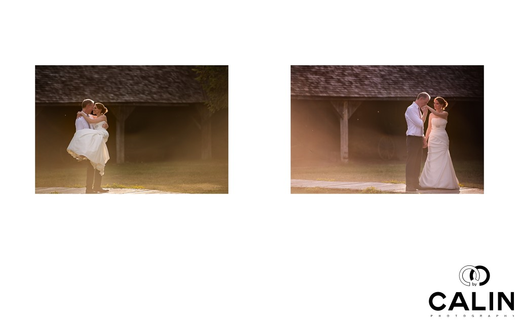 Romance at Black Creek Pioneer Village wedding