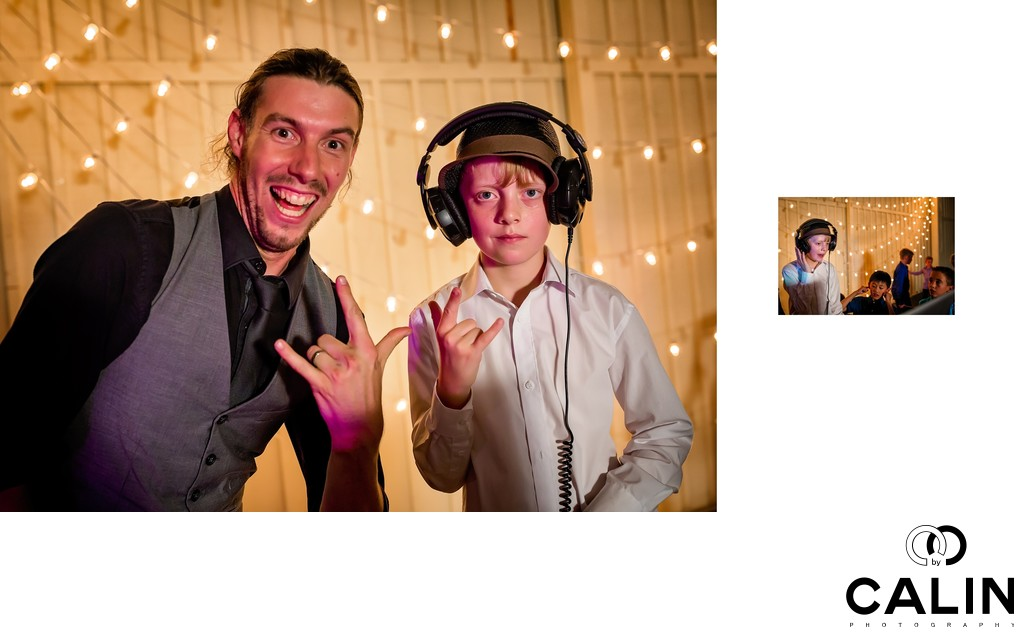 Groom's Son DJ-ing at Black Creek Pioneer Village Wedding