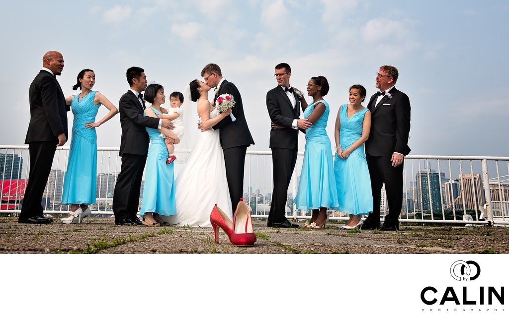 Bridal Party Portrait at Atlantis Wedding