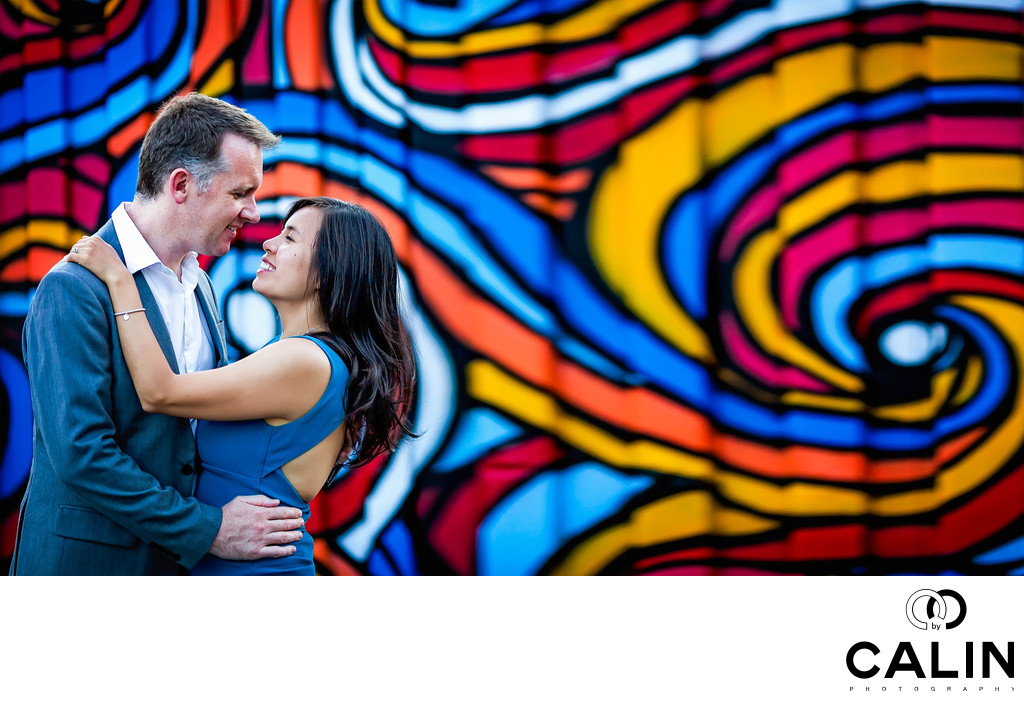 Graffiti Alley Engagement Photo