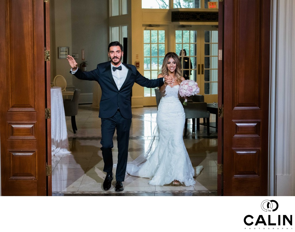 Bride and Groom Enter the Renaissance Room