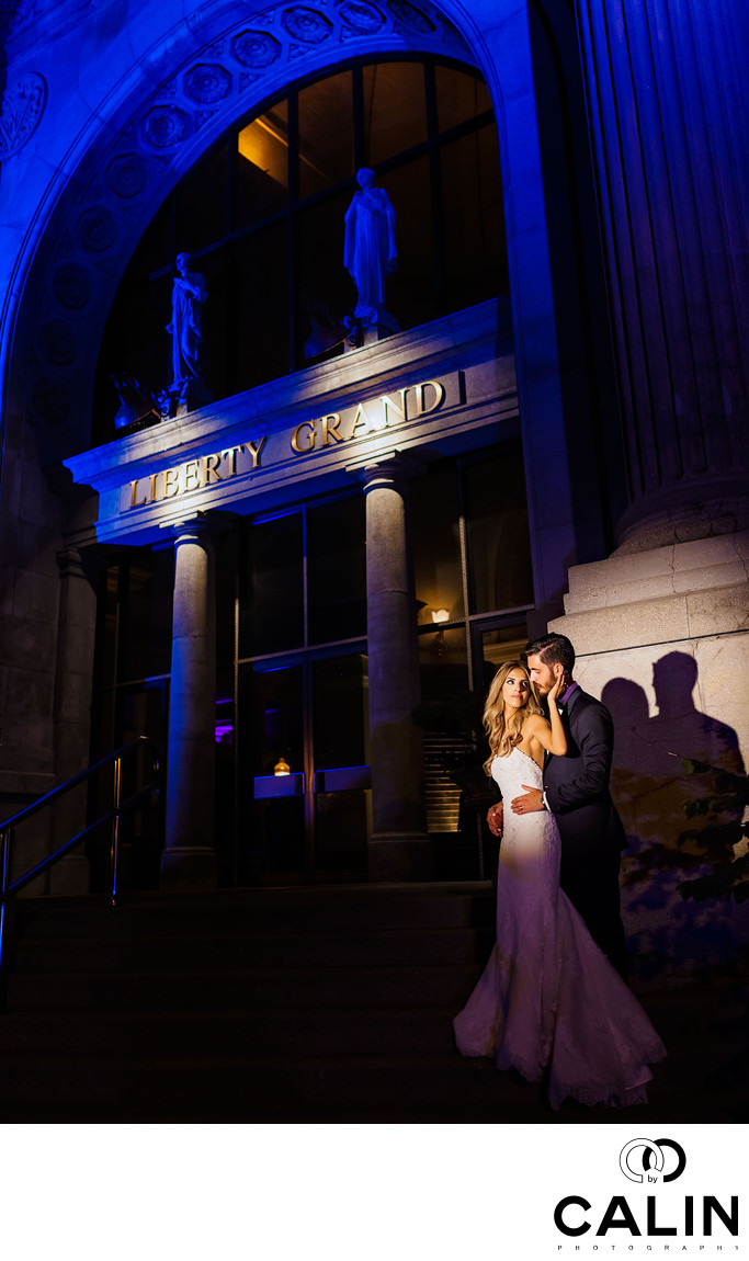 Romance at Liberty Grand Wedding