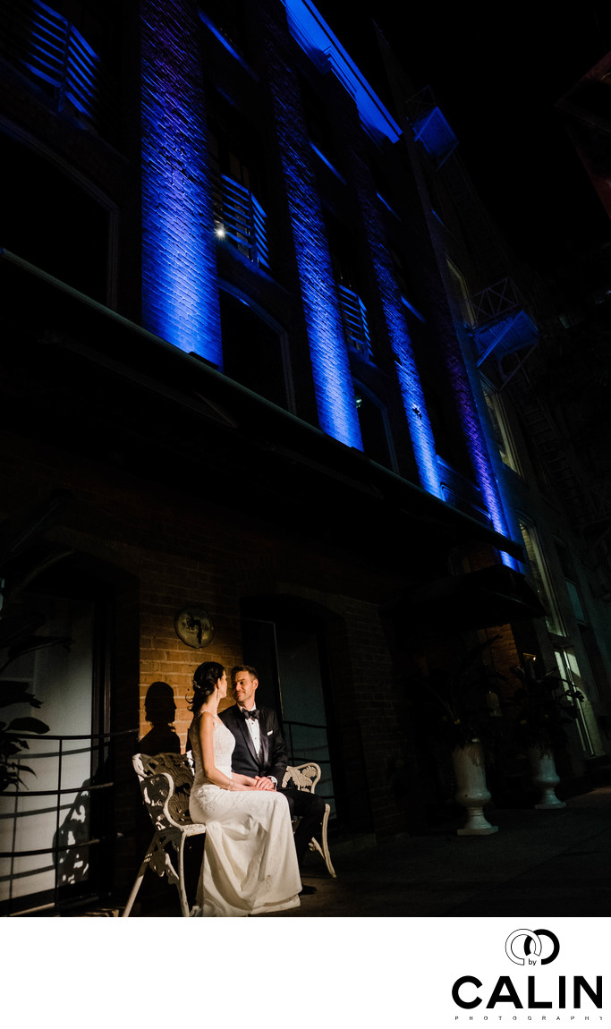 Photo of Bride and Groom at Storys Building Wedding