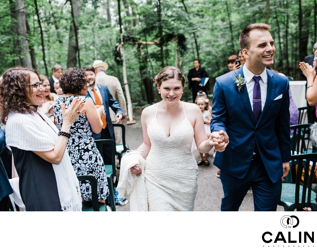 Recessional at Kortright Centre Wedding