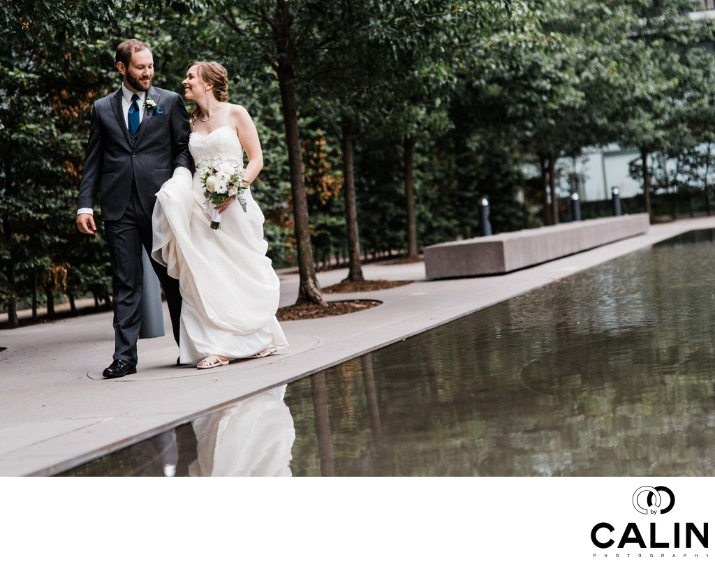 Bride and Groom Walk at Thompson Hotel Toronto