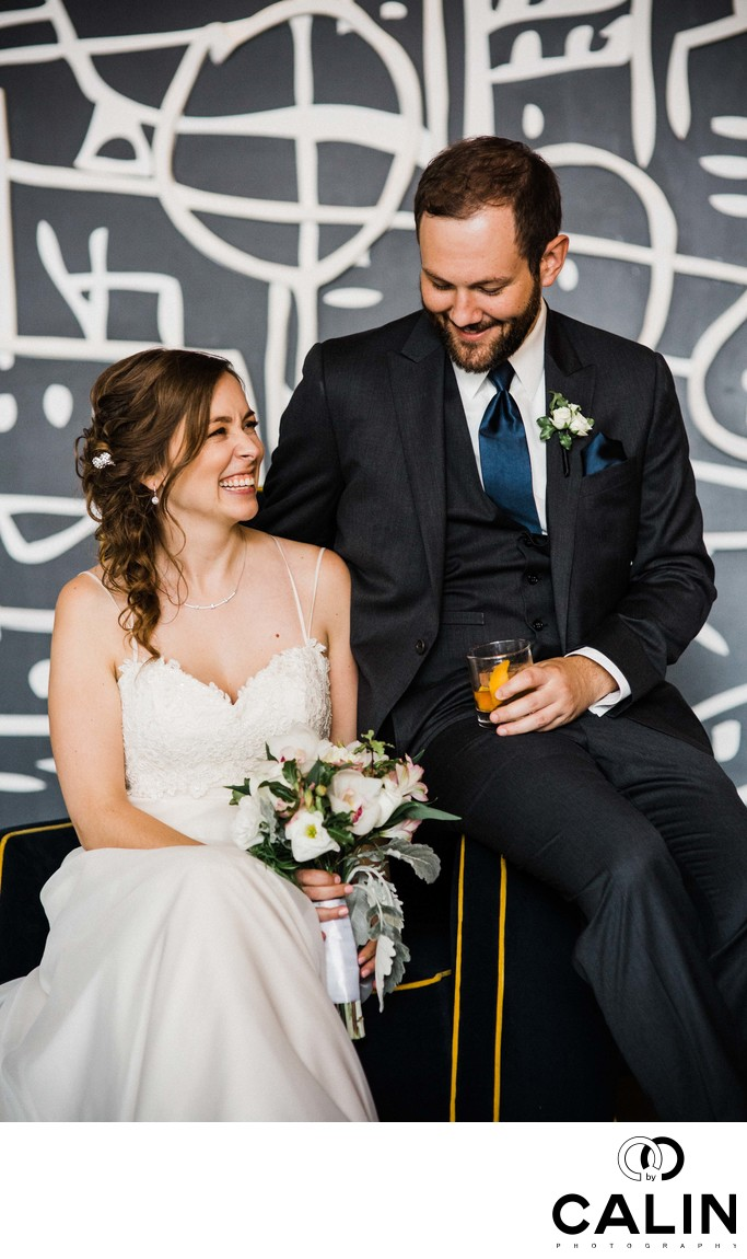 Candid Moment at a Thompson Hotel Toronto Wedding