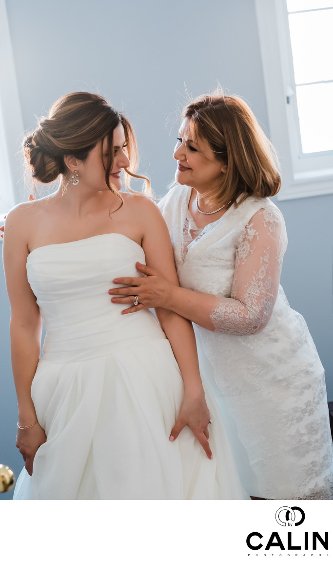 Bride and Mother at Sassafraz Restaurant Wedding Toronto