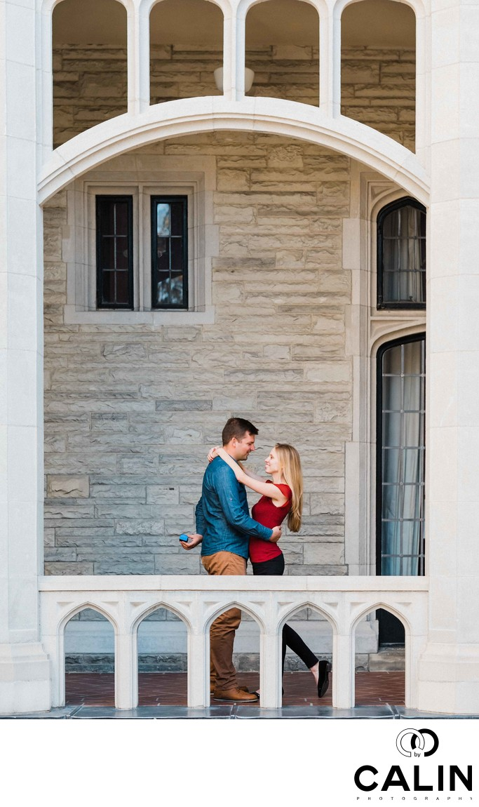 Casa Loma Engagement Proposal and Photo Shoot-036