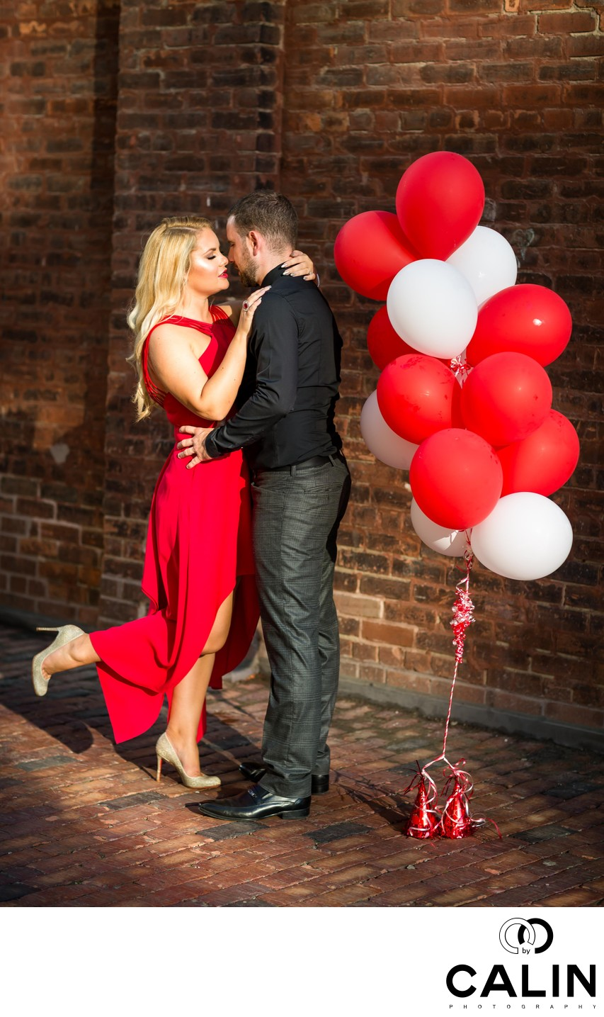 Engagement Photos With Balloons