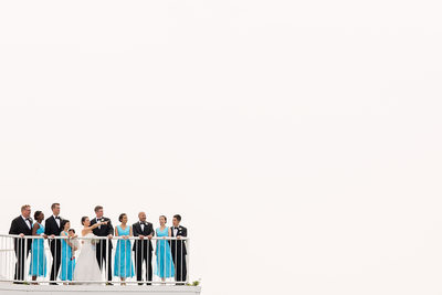 Bridal Party Portrait at Atlantis Pavilions Wedding