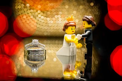 Evergreen Brick Works Wedding Rings