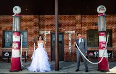 Bride and Groom Portrait at Country Heritage Park