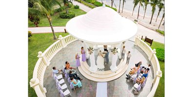 Bird's-eye View of Barcelo Maya Palace Deluxe Wedding