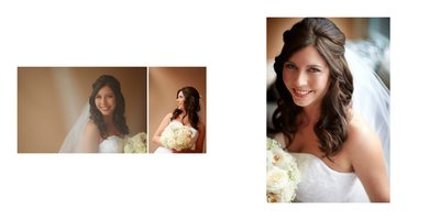 Sequence of Bridal Portraits at Berkeley Church Wedding