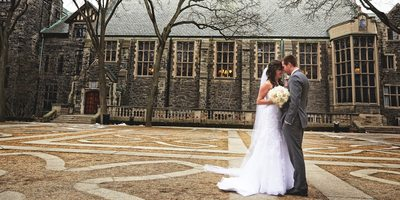 Bride & Groom Portrait at Berkeley Church Wedding