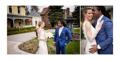 London Ontario Wedding First Look Idlewyld Inn