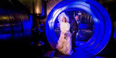 Portrait of the Bride and Groom at The Vault