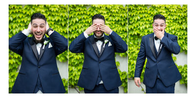 Funny Portraits of the Groom