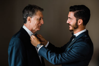 Groom and His Father at a Liberty Grand Wedding