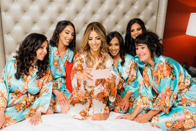 Bridesmaids Take a Selfie at Liberty Grand Wedding