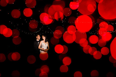 Night Portrait of Newlyweds