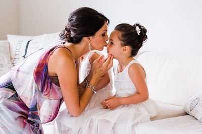 Maid of Honour Kisses Flower Girl