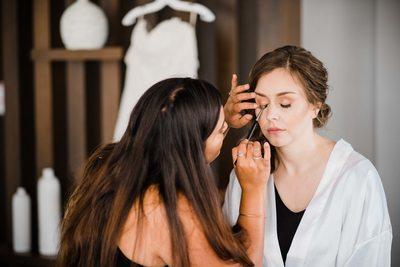 Bride Getting Ready for Her Thompson Hotel Toronto Wedding