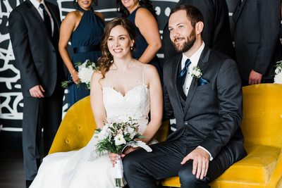 Candid Portrait of Bride and Groom at their Thompson Hotel Toronto Wedding